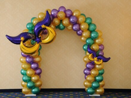 Mardi Gras arch_Purple_Green_Gold