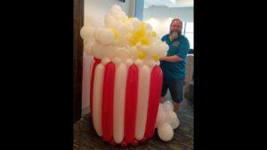 Popcorn Balloon Decoration with Zippy Entertainment