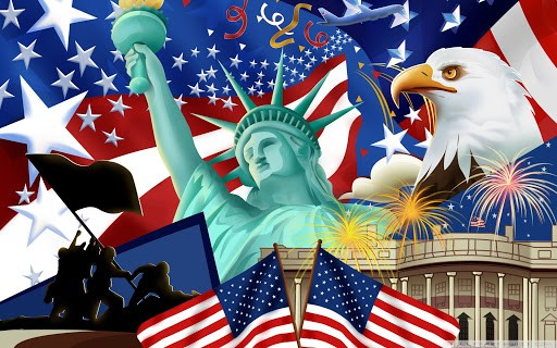 Happy 4th of July_Statue of Liberty_Bald Eagle