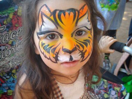 Full Face Face Painting_Cat_Zippy Entertainment