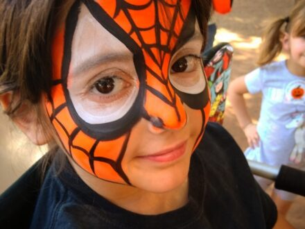 Full Face Face Painting_Spider_Zippy Entertainment
