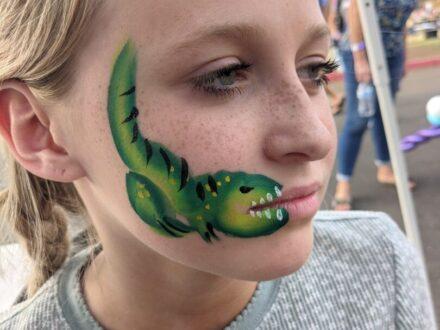 Cheek Face Painting_Alligator_Zippy Entertainment