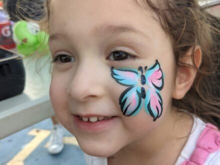 Cheek Face Painting_Butterfly_Zippy Entertainment