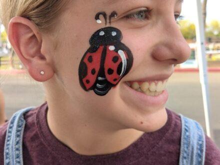 Cheek Face Painting_Ladybug_Zippy Entertainment