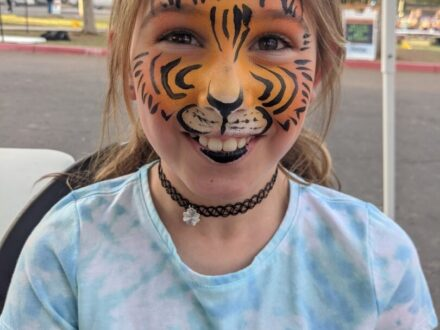 Full Face Face Painting_Tiger_Zippy Entertainment
